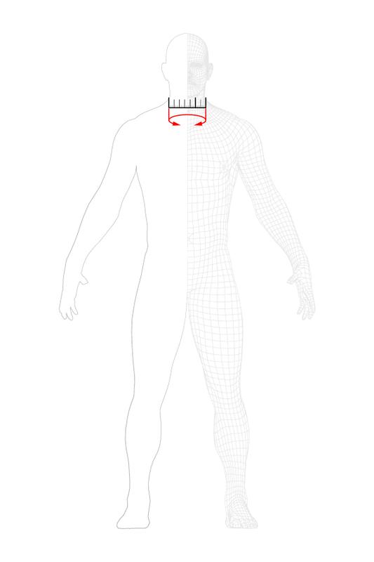 guida misurazione taglie dainese collo
